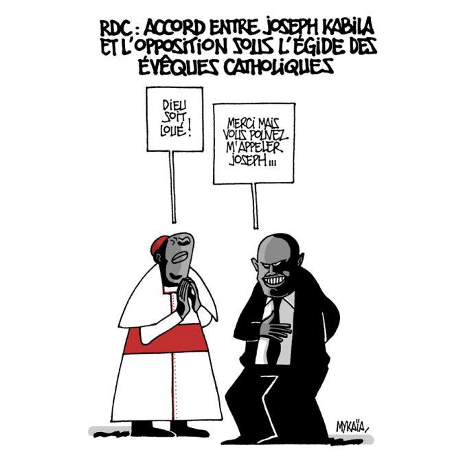 RDC : ACCORD ENTRE JOSEPH KABILA ET L'OPPOSITION SOUS L'ÉGIDE DES ÉVÊQUES CATHOLIQUES