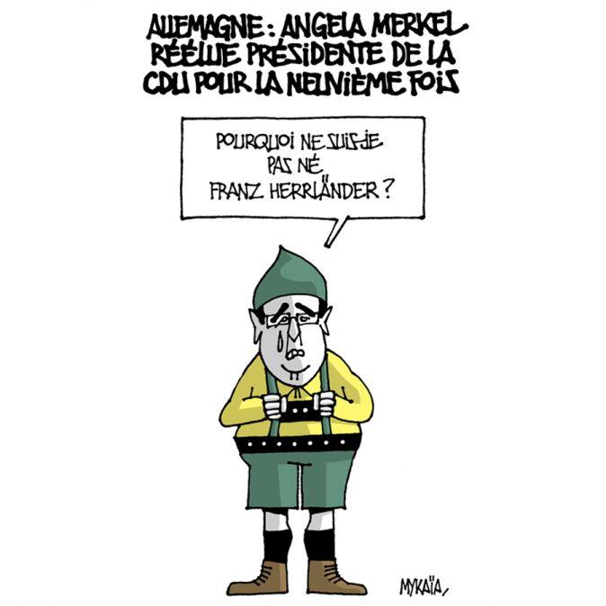 ALLEMAGNE : ANGELA MERKEL RÉÉLUE PRÉSIDENTE DE LA CDU POUR LA NEUVIÈME FOIS
