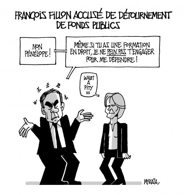 FILLON DETOURNEMENT DE FONDS