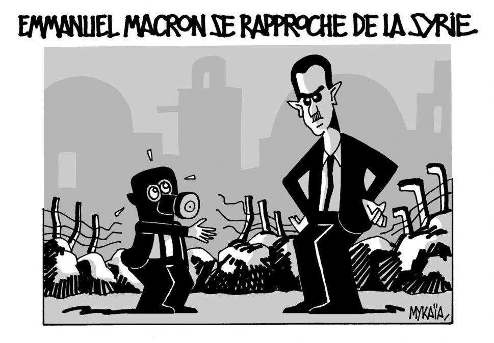 Emmanuel Macron se rapproche de la Syrie