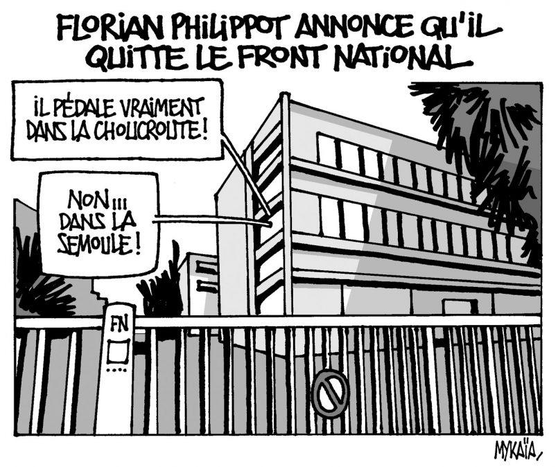 Florian Philippot quitte le FN
