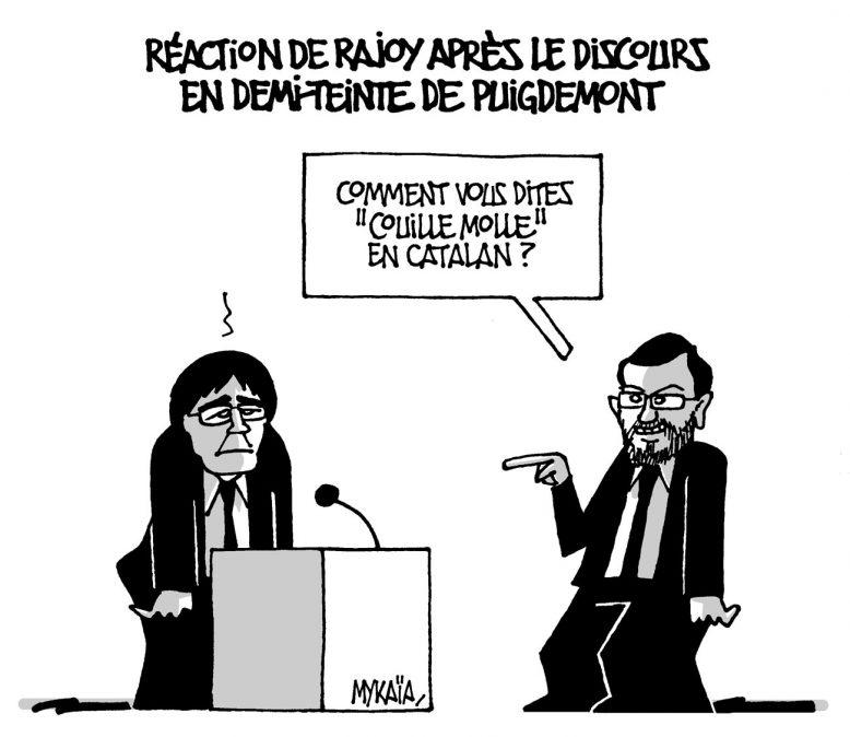 Réaction de Rajoy après le discours en demi-teinte de Puigdemont