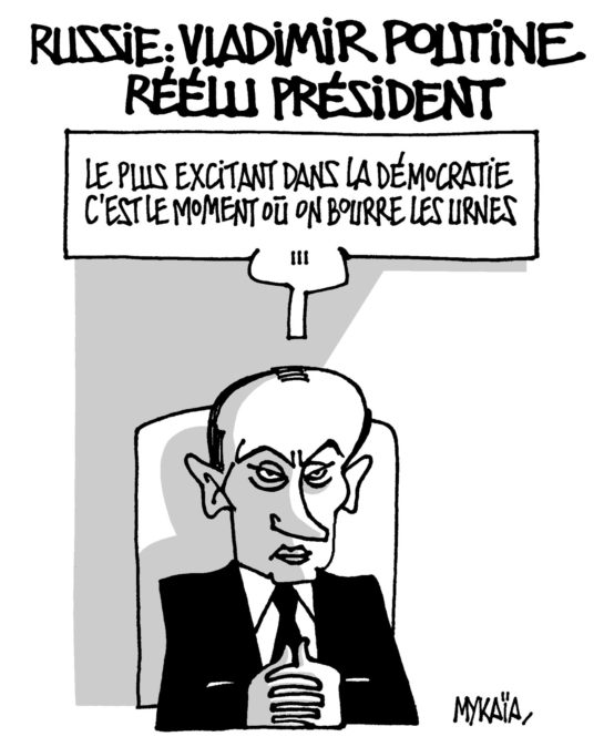 Russie : Vladimir Poutine réélu président