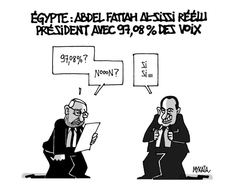 Égypte : Abdel Fattah Al-Sissi réélu président avec 97,08 % des voix