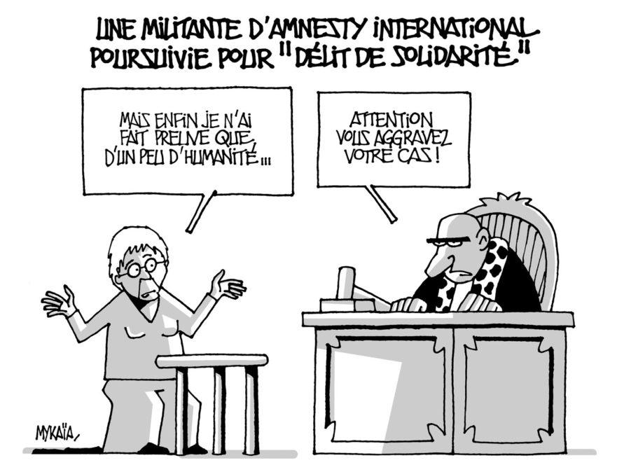 """Une militante d'Amnesty International poursuivie pour """"délit de solidarité"""""""