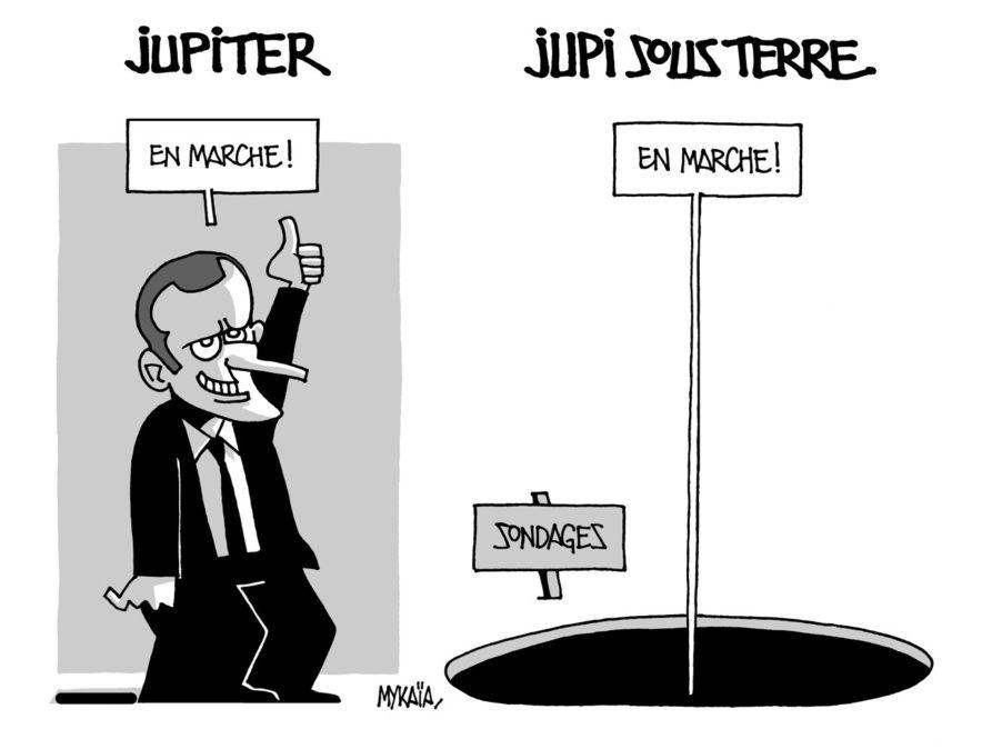 Macron baisse dans les sondages