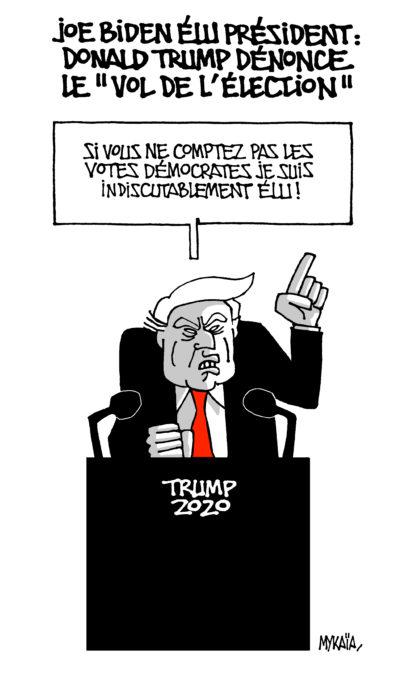 """Joe Biden élu président : Trump dénonce le """"vol de l'élection"""""""