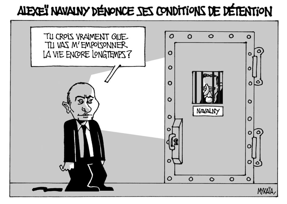 Alexeï Navalny dénonce ses conditions de détention