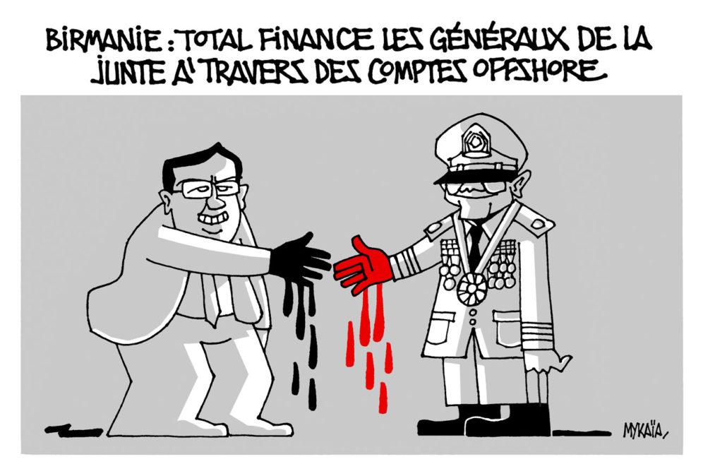 Birmanie : TOTAL finance les généraux de la junte à travers des comptes offshore