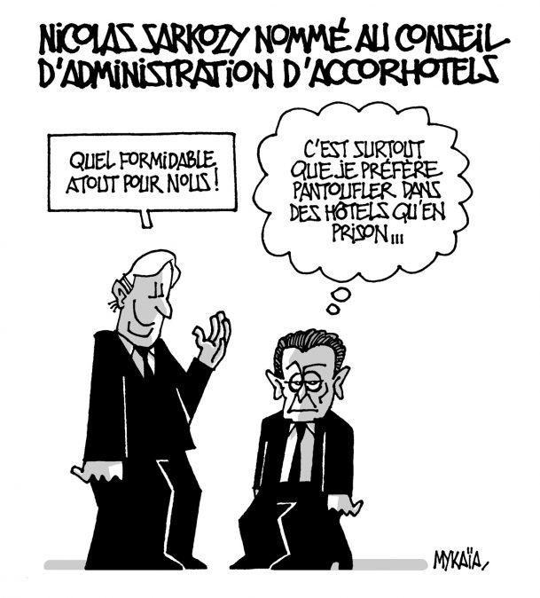 Nicolas Sarkozy a été nommé au conseil d'administration du géant hôtelier AccorHotels