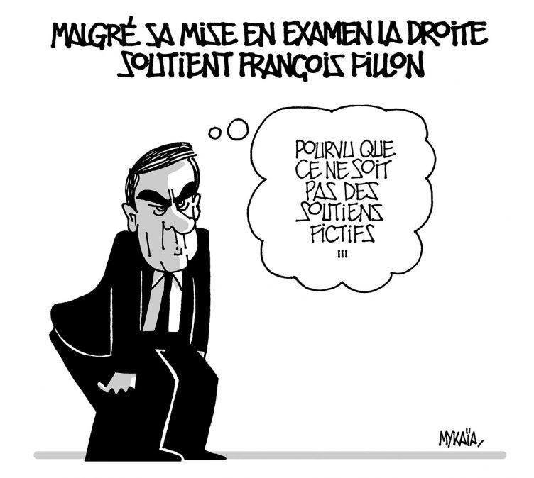 MALGRÉ SA MISE EN EXAMEN LA DROITE SOUTIENT FRANÇOIS FILLON