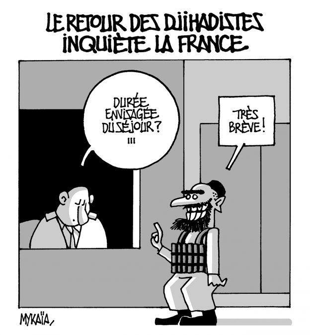 LE RETOUR DES DJIHADISTES INQUIÈTE LA FRANCE...