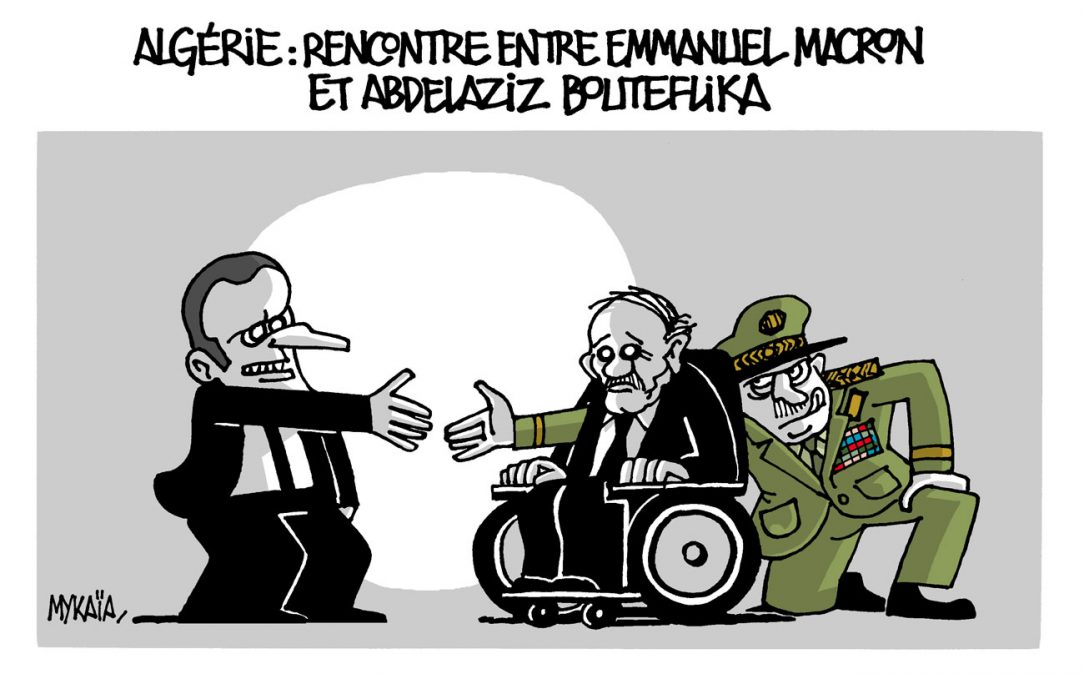 Algérie : Emmanuel Macron rencontre Abdelaziz Bouteflika