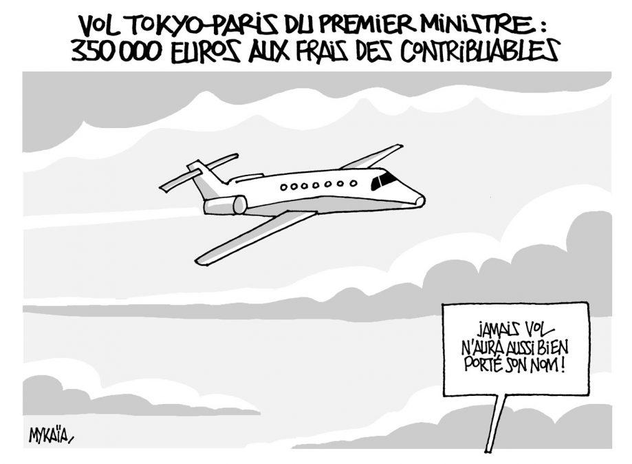 Vol Tokyo-Paris du premier ministre : 350 000 euros aux frais des contribuables