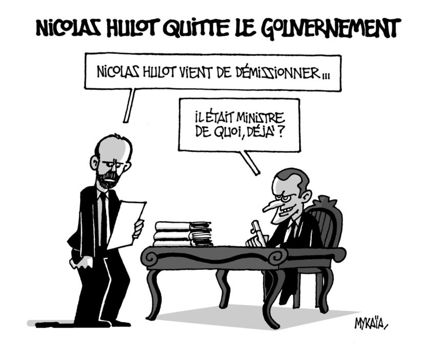 Nicolas Hulot quitte le gouvernement
