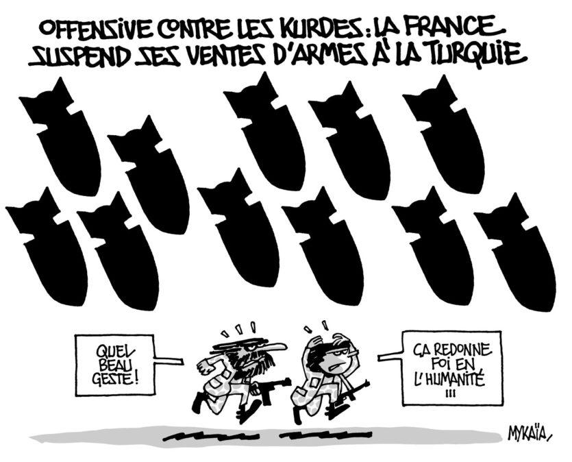 La France suspend ses ventes d'armes à la Turquie