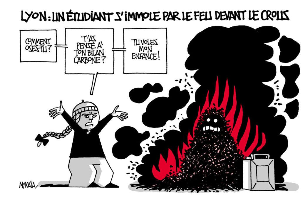 Lyon : un étudiant s'immole par le feu devant le CROUS