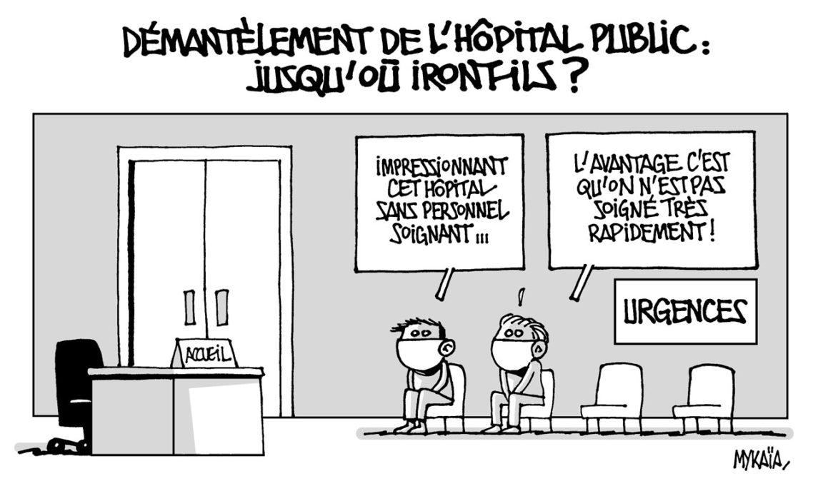 Démantèlement de l'hôpital public